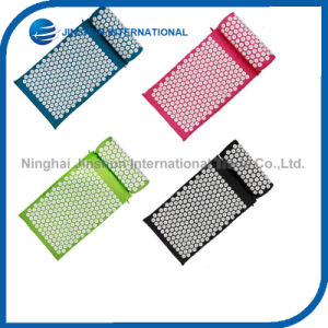 Acupressure Yoga Mat and Massager Pillow for Back/Neck Pain Relief Whole Body Massager Pad pictures & photos