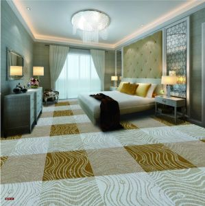 N379-Rolled 1/8 Nylon-PA6 Cut &. Loop Woven Full-Width Repeat Office/Hotel/House Carpet pictures & photos