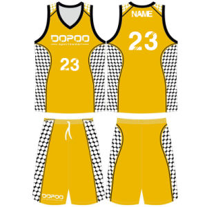 Custom Polyester Men Sublimated Basketball Jersey with Your Own Logo pictures & photos