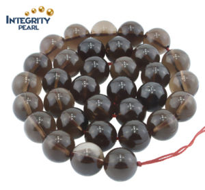 Wholesale Natural Crystal with Smooth Face Size 4 6 8 10 12 14 16mm Round Smoky Quartz Loose Crystal Beads pictures & photos