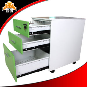 Portable 3 Drawer Mobile Cabinet / Mobile Pedestal / Steel Storage Cabinet pictures & photos