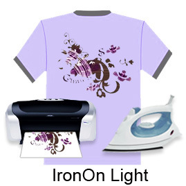 Iron-on Inkjet Light Heat Transfer Paper for Clothing pictures & photos