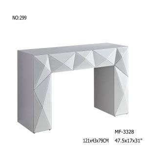 2017 White Glass Console Table Mirror Furniture pictures & photos