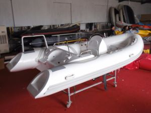4.2m 13.8FT Rib420c Recsue Boat with Hypalon Fiberglass Hull Rigid Inflatable Boat Hot Sale pictures & photos