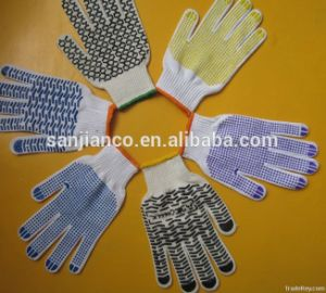 PVC Dotted Glove, Industrial Gloves Sjie14006 pictures & photos