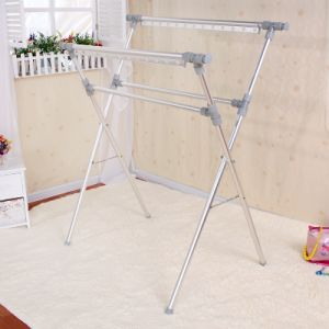 Aluminum X-Type Telescopic Extending Laundry Rack (098A)