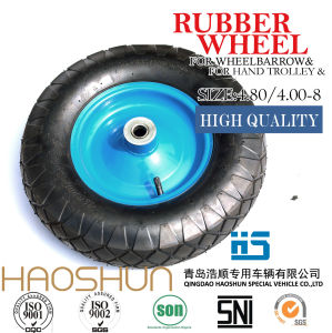 Pneumatic Wheelbarrow Barrow Rubber Wheel Tire 13X5.00-6 pictures & photos