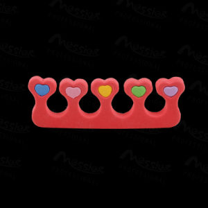 Color Heart Style Manicure Pedicure Toe Separator for Nail Polish Beauty