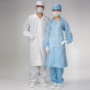ESD Apron Cleanroom Clothes Anti-Static Lint Free Cleanroom Smock pictures & photos