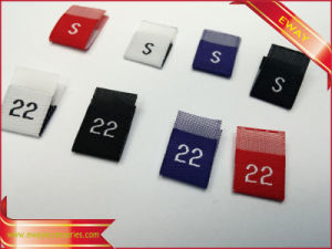 Middle Fold Size Label Garment Woven Size Label pictures & photos