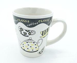13oz V Ceramic Stoneware Promotion Decal Coffee Mug pictures & photos