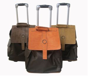 Good Quality PU Trim Trolley Bag/Trolley Case pictures & photos
