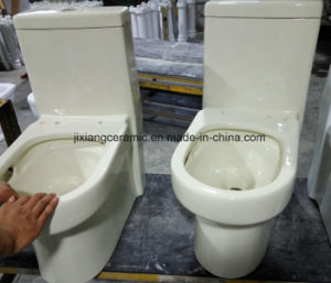 Ivory One-Piece Ceramic Toilet Super Siphonic pictures & photos