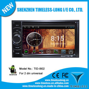 2 DIN Universal Android System Car DVD with GPS iPod DVR Digital TV Bt Radio 3G/WiFi (TID-I802)