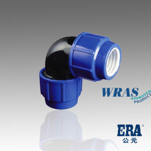Hot Quality Certificate Drip Irrigation PP Cpmpression Fitting 90degree Elbow pictures & photos