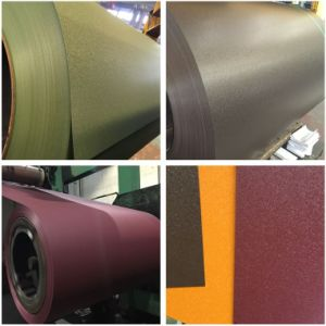 Roofing Steel Material Prepainted Galvanized Steel Coil PPGI (Smooth Wrinkle) pictures & photos