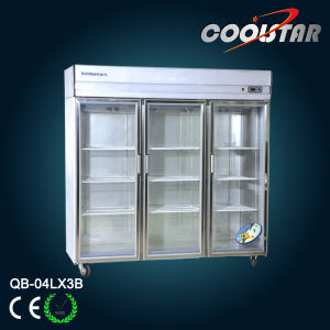 Stainless Steel Showcase Refrigerator (QB-04L*3B) pictures & photos