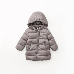 Fashion Solid Color Children Outerwear with Hood for Kids Clothing pictures & photos