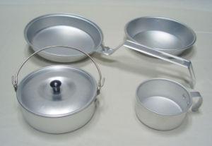 Cookset Mess Kit, Camping Cookware, Aluminum Cookware pictures & photos