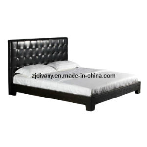 European Style Modern Leather Bed Fabric Double Bed pictures & photos