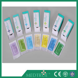 Medical Disposable Nylon Monofilament Surgical Suture with Needle pictures & photos