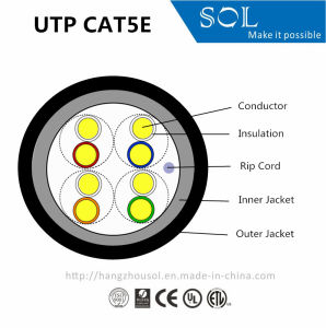 UL Cert 24AWG 4P Double Jacket UTP Cat5e Cable