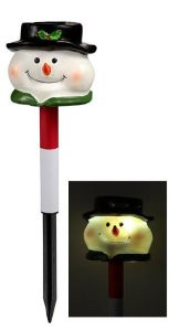 Solar Santa Stake Light with White LED -H1s34 pictures & photos