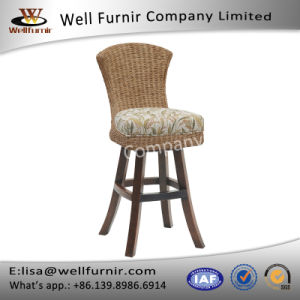 Well Furnir T-070 Tropical-Inspired Style Floral Print Fabric Seat Breeze Swivel Bar Stool pictures & photos