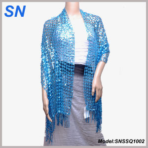 Sparkling Sequined Scarves Wrap Shawl for Women pictures & photos