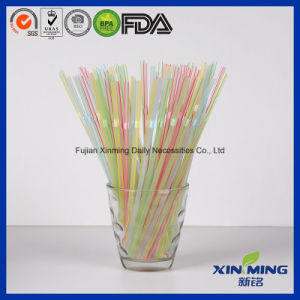 Disposable Transparent Striped Color Plastic Drinking Straws pictures & photos