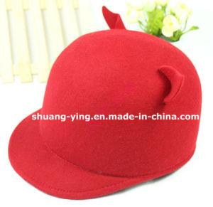 Wool Bowler Hat Cat Ear Cap (YM1612001-4)