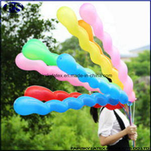 #Spiral# 40PCS Card-Packing 7 Knob 26cm Spiral Shaped Twisting Latex Balloons pictures & photos