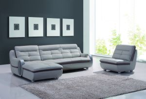 Modern Stainless Steel Leg Corner Sofa pictures & photos