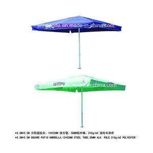 3.5X3.5m Aluminum Pole Advertising Beach or Patio Umbrella (YSBEA0030) pictures & photos