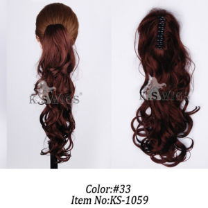 Kanekalon Synthetic Hair Ponytail Clip on Hair Extension pictures & photos