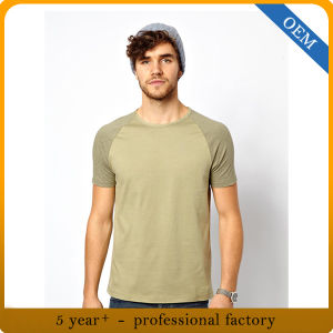 Factory Price 100% Cotton Mens Baseball Raglan Tees Wholesale pictures & photos