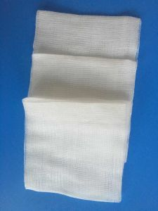 Surgical X-ray Thread 4X4 Medical X-ray Detectable Non Sterile Medical Gauze Swab Pads pictures & photos