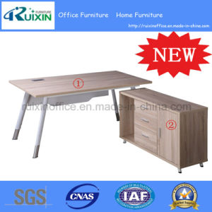 Modern Cheap Wooden&Steel Office Computer Desk (RX-MG0214&RX-B4008) pictures & photos
