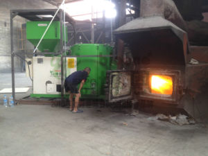 Wood Pellet Burner for Aluminum Heating and Melting Furnace pictures & photos