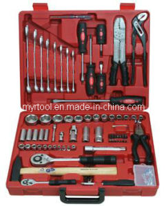 """Hot Selling-1/2""""&1/4"""" 99PCS Hand Socket Tool Set (FY1099B) pictures & photos"""