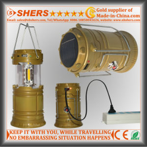 3W COB LED Solar Camping Lantern with LED Torch (SH-1995B)