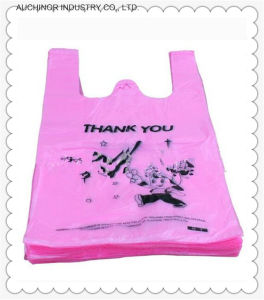 Reusable and Customizable HDPE Printed Singlet Bag pictures & photos
