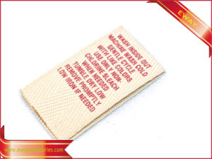 Canvas Printed Label Garment Cotton Printed Label pictures & photos