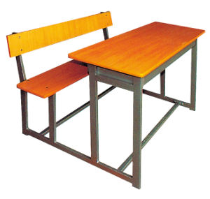 New Style Simple Double Desk with Chair School Furniture