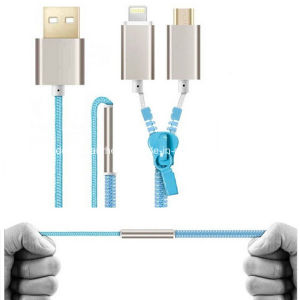 2 in 1 Zipper USB Cable for Micro and I5