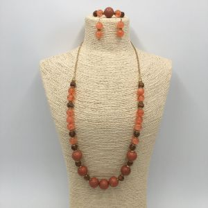 Elegence Jewelry Sets with Beads Necklace and Earring and Bracelet for Girls