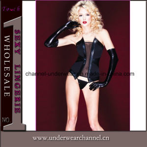 Sexy Women PVC Leather Catsuit Lingerie (TW1257) pictures & photos