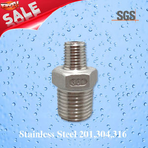 Stainless Steel Casting Male Threaded Nipple, Stainless Steel Nipple pictures & photos
