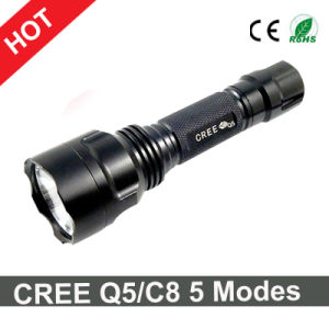 Hot Sale CREE C8/Q5 Camping Flashlight 5 Modes Torch pictures & photos