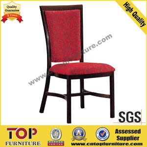 Hotel Metal Wood-Look Restaurant Dining Chair pictures & photos